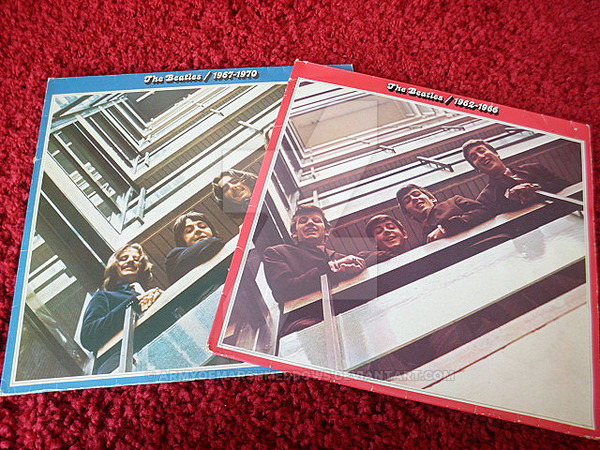 the_beatles_blue_and_red_album__records__by_armyofmarshmeddows-d7nnvwr.jpg